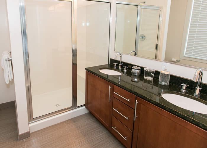 Luxury apartment bathrooms in federal hill