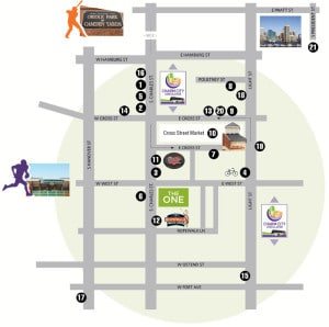 Cross Street Market map