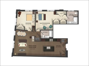 South Charles Street Apartments Unit 1 Floor Plans