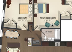Federal Hill Apartments Unit 1 floor plan