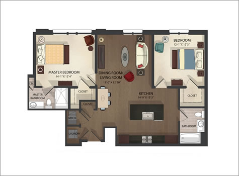 Federal Hill Apartments Unit 2 Floor Plans