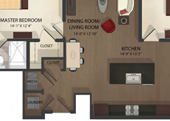 Federal Hill Apartments unit 2 floor plan
