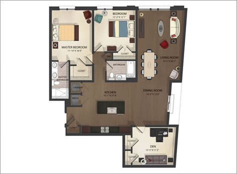 Federal Hill Apartments Unit 3 Floor Plan