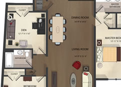 Federal Hill Apartments unit 4 floor plan