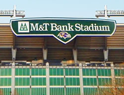 Ravens M&T Bank Stadium in Baltimore