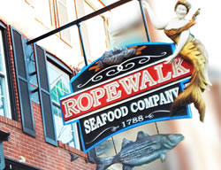 Ropewalk seafood restaurant in Federal Hill