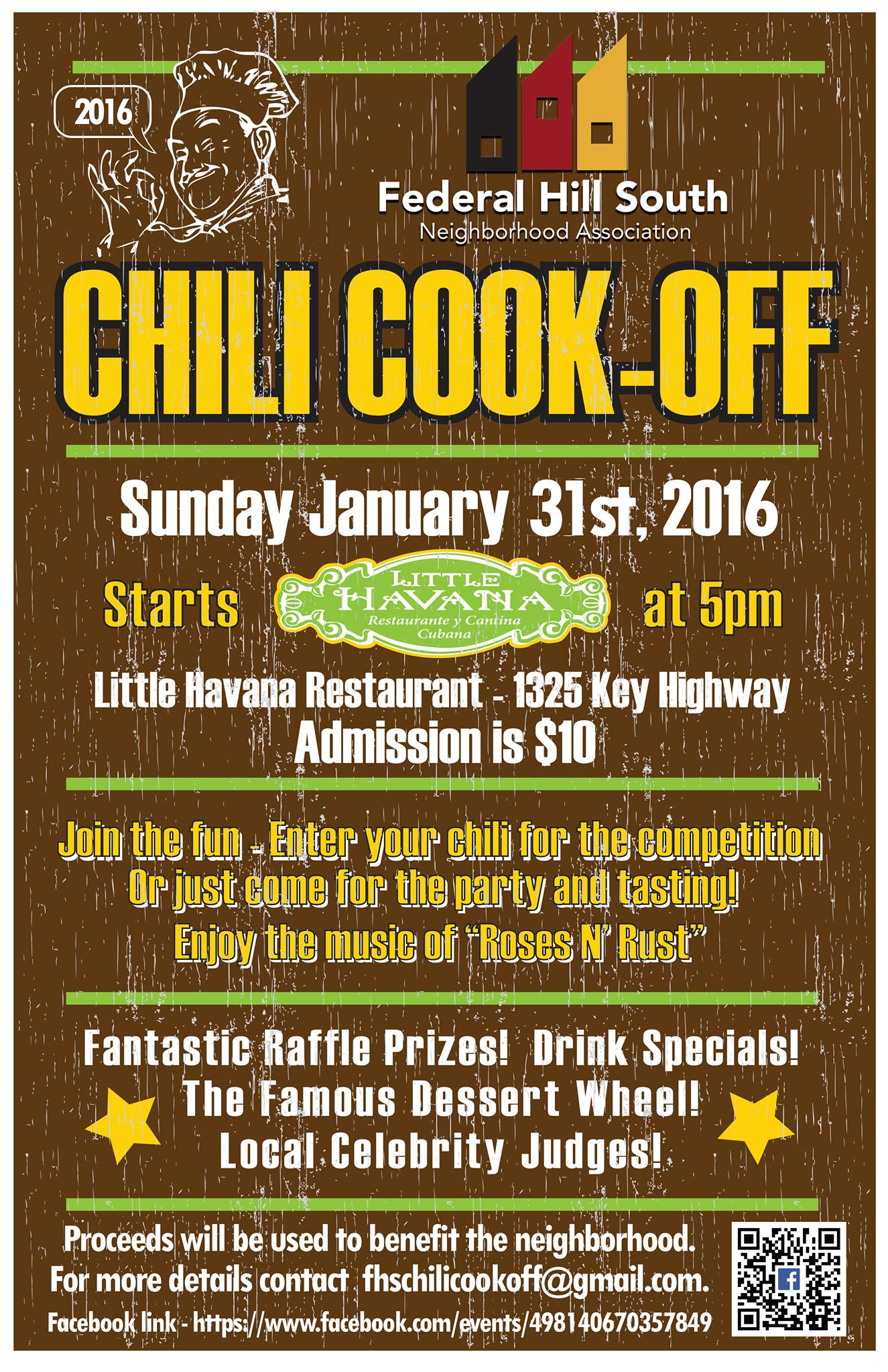 federal hill south chili cook off 2016 poster