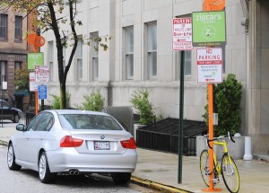 zipcar baltimore parking spot
