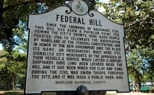Federal Hill Baltimore Sign